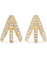 Melissa Kaye - Cris 18-karat Gold Diamond Earrings - Lyst