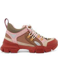 Gucci - Flashtrek GG High-top Trainer In Pink - Lyst