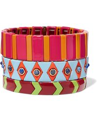 Roxanne Assoulin - Drawing Room Set Of Three Enamel Bracelets - Lyst