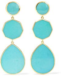 Ippolita - Polished Rock Candy Crazy 8's 18-karat Gold Turquoise Earrings - Lyst