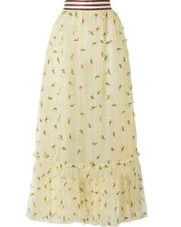 Ganni - Bliss Embellished Tulle Maxi Skirt - Lyst