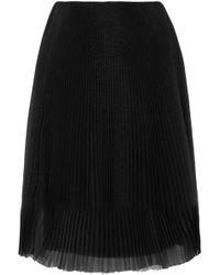 Prada - Plissé-organza Skirt - Lyst