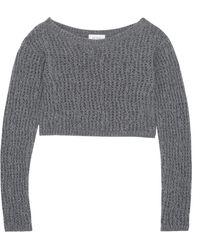 Isa Arfen - Cropped Open-knit Wool Sweater - Lyst