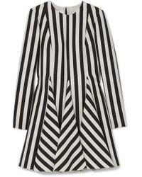 Valentino - Striped Wool And Silk-blend Mini Dress - Lyst