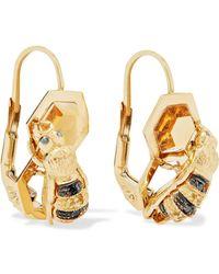 Delfina Delettrez - 9-karat Gold Multi-stone Earrings - Lyst