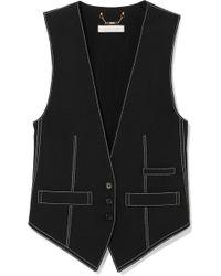 Chloé - Top-stitched Crepe Vest - Lyst