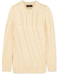Theory - Cable-knit Jumper - Lyst