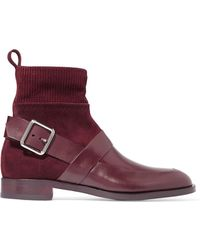 Pierre Hardy - Fusion Suede And Leather Ankle Boots - Lyst