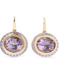 Alice Cicolini - 22-karat Gold, Sterling Silver, Enamel And Amethyst Earrings - Lyst