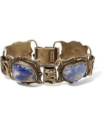 Etro - Gold-tone Crystal Bracelet - Lyst