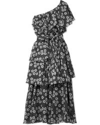 Lisa Marie Fernandez - Arden One-shoulder Printed Cotton-voile Maxi Dress - Lyst