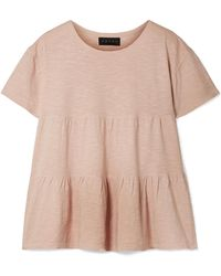 HATCH - Gathered Slub Cotton-jersey T-shirt - Lyst