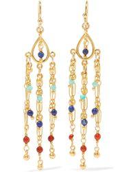 Chan Luu - Gold-plated Beaded Earrings - Lyst