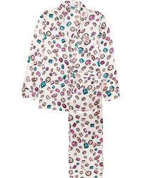 Olivia Von Halle | Lila Yolanda Printed Silk-satin Pyjama Set | Lyst