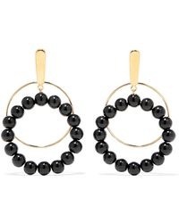 Marni - Gold-plated Beaded Clip Earrings - Lyst