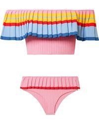 Tabula Rasa - Toque Off-the-shoulder Ribbed Stretch-knit Bikini - Lyst