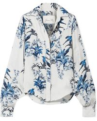 Johanna Ortiz - Azalea Printed Silk-georgette Shirt - Lyst