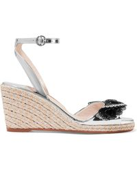 Sophia Webster - Soleil Lucita Mirrored-leather Espadrille Wedge Sandals - Lyst