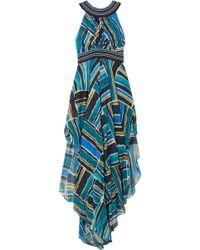 Talitha - Embellished Printed Chiffon Maxi Dress - Lyst