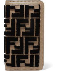 Fendi - Flocked Leather Iphone X Case - Lyst