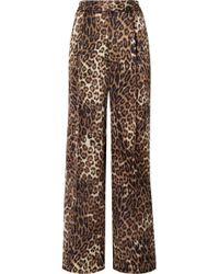 Nili Lotan - Vivianna Leopard-print Silk-satin Wide-leg Pants - Lyst