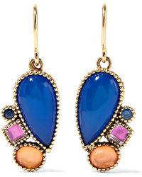 Larkspur & Hawk   Cora Cluster 14-karat Gold Multi-stone Earrings   Lyst