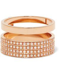 Repossi - Berbère 18-karat Rose Gold Diamond Ring - Lyst