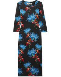 Diane von Furstenberg - Saihana Floral-print Silk-jersey Midi Dress - Lyst