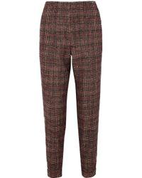 Akris - Checked Tweed Straight-leg Trousers - Lyst