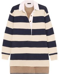 J.Crew | Garret Oversized Striped Merino Wool Polo Top | Lyst