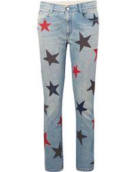 Stella McCartney - Printed Slim Boyfriend Jeans - Lyst