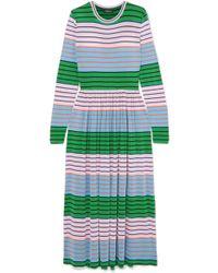Stine Goya - Joel Striped Stretch-jersey Midi Dress - Lyst