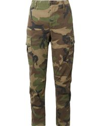 RE/DONE - Camouflage-print Cotton-canvas Tapered Pants - Lyst