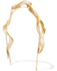 LELET NY - Quill Gold-plated Headband - Lyst