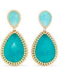 Rosantica - Vita Gold-tone Stone Clip Earrings - Lyst
