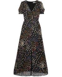 99d7cfeb Alice McCALL Oscar Ruched Polka-dot Chiffon Midi Dress in Black - Save 29%  - Lyst