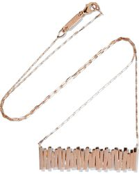 Suzanne Kalan - 18-karat Rose Gold Necklace - Lyst