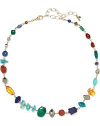 Chan Luu - Gold-plated Multi-stone Necklace - Lyst