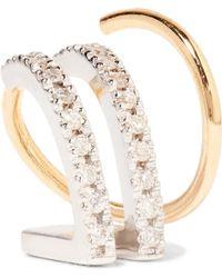 Maria Black - Bess Blanc Twirl 18-karat Gold, Rhodium-plated And Diamond Earring - Lyst