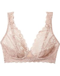 Hanro - Moments Stretch-lace Soft-cup Bra - Lyst