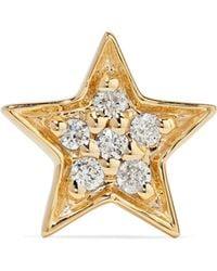 Andrea Fohrman - Mini Star 14-karat Gold Diamond Earring Gold One Size - Lyst