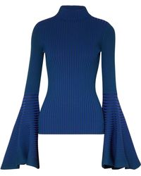 Solace London - Sattal Ribbed Stretch-knit Turtleneck Top - Lyst