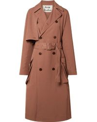 Acne Studios - Fn-wn-outw000100 Dusty Pink Long Trench Coat - Lyst