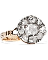 Fred Leighton - 1800s Gold And Sterling Silver Diamond Ring - Lyst