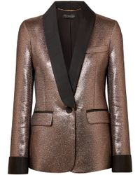 Rachel Zoe - Toni Grosgrain-trimmed Metallic Jacquard Blazer - Lyst