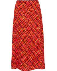 Marni - Printed Crepe Maxi Skirt - Lyst