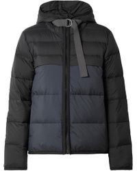 James Perse - Two-tone Quilted Shell Down Jacket - Lyst