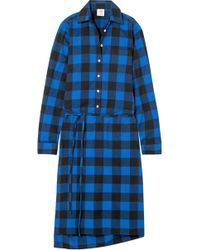 Vetements - Checked Flannel Shirt Dress - Lyst
