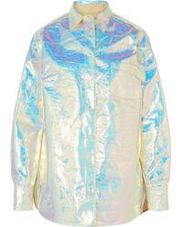 Sies Marjan - Sander Iridescent Coated-cotton Shirt - Lyst