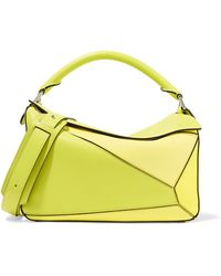 191f6d001844 Loewe - Puzzle Small Color-block Textured-leather Shoulder Bag - Lyst